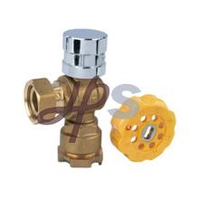Tipo válvula de bola Lockable magnética de bronze do ângulo para o medidor de água