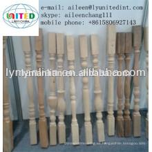 barandas de madera tallada escalera