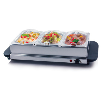 Buffet Server / Hotplate med 3-sektioner 200 Watt