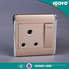 Interrupteur mural électrique UK Standard 15AMP avec prise de courant