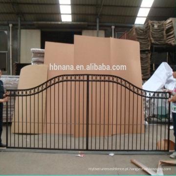 design de portão de aço ou alumínio