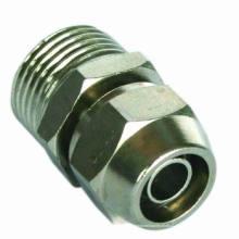 Neumático Fitting/One toque latón conexión (conector recto macho)