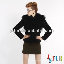 New product hotsale beautiful mongolian fur collar on rabbit fur winter jacket