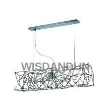 Retangle Iron Chandelier Pendant Cage Lamp