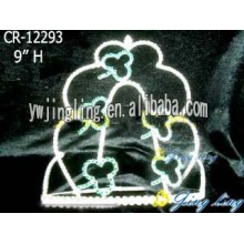 Large Tiara Leaf Pageant Crown For Girl