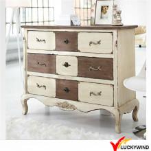 Gabinete de madera de la sala de estar de Shabby Chic