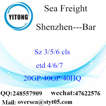 Shenzhen Port Sea Freight Shipping To Bar