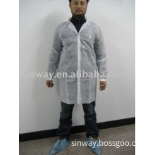 non woven work wear with knitted cuffs