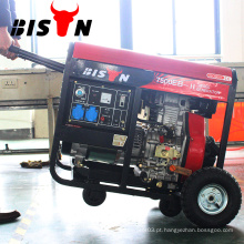 BISON China Electric Start Ar Refrigerado com gerador de energia a diesel 7KVA com rodas