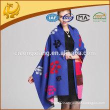 2015 new style flower jacquard viscose shawl