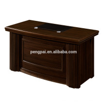 L shaped model new designs office table with side table