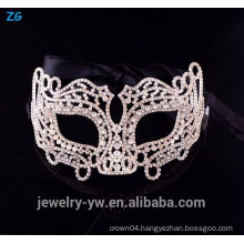 High quality crystal christmas cheap party face mask