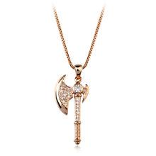 Italina Jóias colar de cristal feito de pedra natural uncut áspero diamante colar de cristal de machado