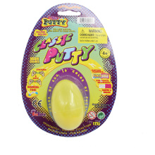 13G Yellow Thinking Putty Toy in Plastic Egg for Dollar Shop