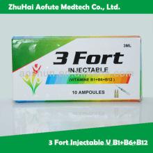 Inyección de Vitamina B1 + B6 + B12 aprobada por Gpm