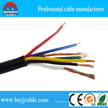 Chinese Factory Black Jacket Multi-Core Cu Conductor Control Cable