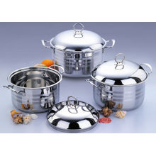3PCS Set Stainless Steel Saucepot