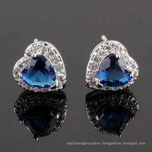 CZ Cubic Zirconia Diamond Zircon Silver Earrings