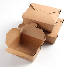 caixa de papel kraft take-out