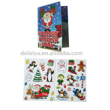 Colour Christmas sticker set or Christmas greeting card