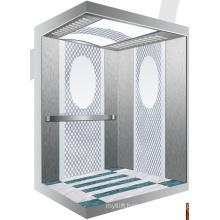 Aksen Mirror Etched Machine Room Less Passenger Lift J0345