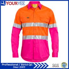 Lange Hülsen-Sicherheits-Arbeit Hemden Einzigartiger Entwurf (YWS116)