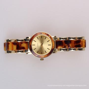 Pulsera del reloj de la manera del movimiento de Singapur, reloj de pulsera