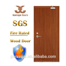 High Quality BS 1 hour hotel fire proof wooden door