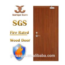Alta qualidade BS 1 hora hotel porta à prova de fogo de madeira