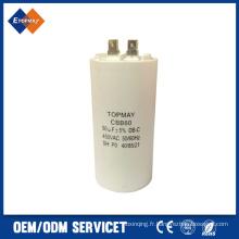 Condensateur de Film de polypropylène métallisé vente chaude pour AC Cbb60 50UF 450VAC