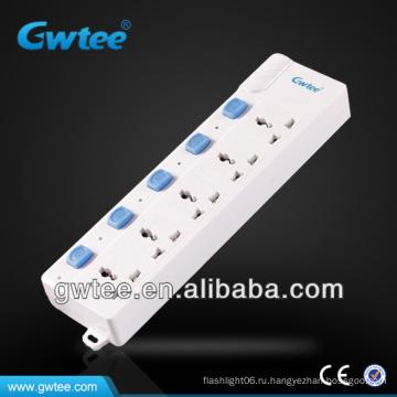 Электрическая розетка 10А 2500 Вт с независимым выключателем