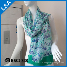Green 60 Rayon Scarves Women