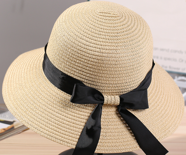 Big Brim Paper Straw Hat Beige