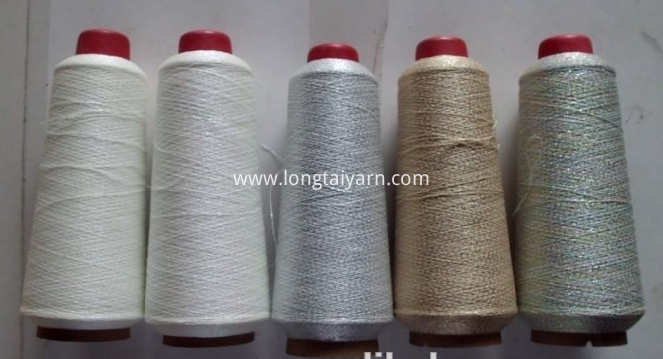 Polyester glowing yarn