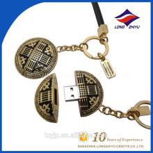 Zink-Legierung Ungewöhnliche Einzigartige USB-Speicher-Schlüsselringe