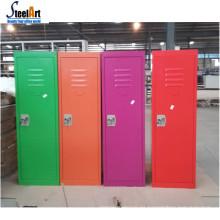 Cabina de almacenamiento de acero pequeño de los niños coloridos