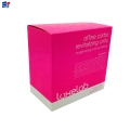 Decorative makeup foldable packaging box
