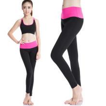 Pantalones de las polainas de Activewear de las mujeres entrenamiento de la yoga de la cintura alta que funcionan deportes