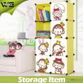 DIY Utility Folding Kids Storage Box Wholesale Plastic Cabinet