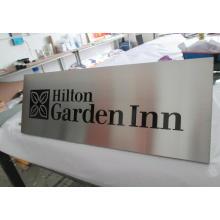 Отель номер Офисное здание стены травленная литой выгравированы направленного предупреждение безопасности металлические стальные алюминия атласа матовый таблички