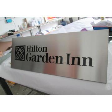 Edifício de escritórios do hotel quarto parede elenco gravado gravado direcional aviso segurança Metal aço alumínio acetinado escovado placas