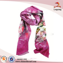 Satin Silk Custom Printed Scarves For Wholesale, Logo Print Silk Scarf, Chinese Silk Scarf