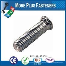 Feito em Taiwan Cabeça de descarga de aço inoxidável Cabeça sem flush Cabeçada com rosca Metric Threaded Stud