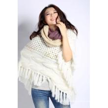 Écharpe en tricot acrylique (12-BR-201712-6.1)