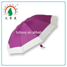 Brasil mercado mulheres 3 guarda-chuva dobrável atacado fabricante China