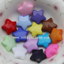 High Quality for Plastic Star Beads Lots Acrylic Opaque Colors Acrylic Star Beads with Drill Holes supply to Equatorial Guinea Supplier