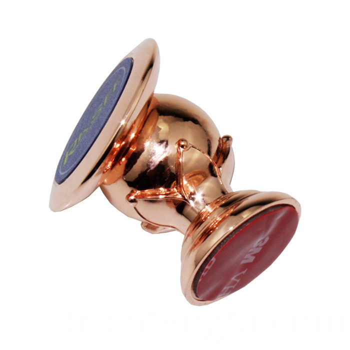 360 Rotating Magnetic Phone Holder Rose Gold