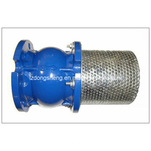 Cast Iron Flanged Foot Valve with Waterworks