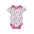 Newest Infant girls playsuit pink color and red white stripe baby boutique clothes toddlers romper