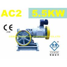 5.5kw AC2 máquina de tracción para ascensor
